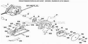 Craftsman 315108241 Parts List And Diagram