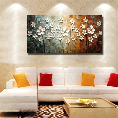 From lush greenery to a collection of artwork, see these easy ways to sometimes, a bare wall can feel refreshing—especially when a room is filled with bold furniture, printed area rugs, and plenty of objets. Chinese Wall Art Modern Living Room Wall Decor Flower Painting Large Canvas Art Hand Painted ...