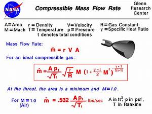 Compressible Mass Flow Rate