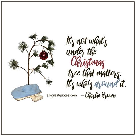 charlie brown christmas its not whats under the tree quote its not whats the tree that matters quotes