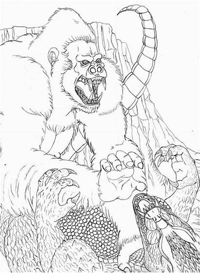 Coloring Pages Kong King Godzilla Popular Mechagodzilla