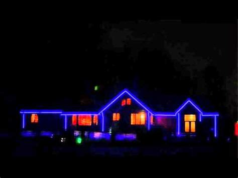 decorate  house outline  rgb led stripwmv