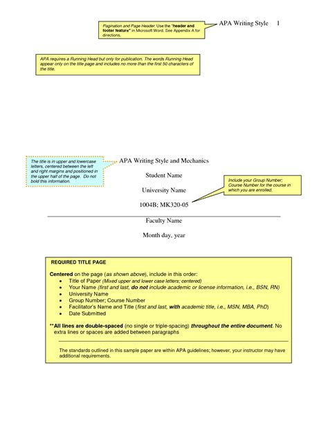 format of an apa paper apa reaction paper