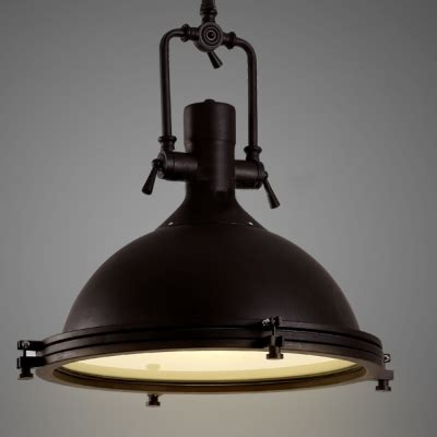industrial style kitchen pendant lights nautical pendant light with frosted diffuser 7521