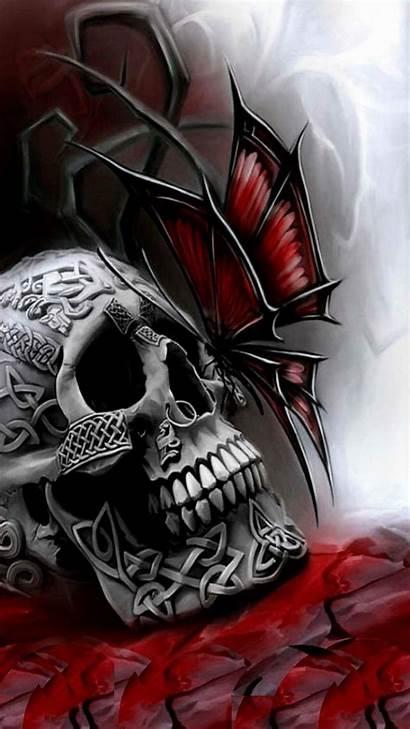 Skull Gothic Skulls Dark Fantasy Santa Drawing