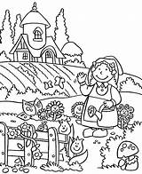 Coloring Garden Pages Gardening Lovely Spring Welcome Easy Tools Drawing Printable Fairy Preschool Getdrawings Getcolorings sketch template