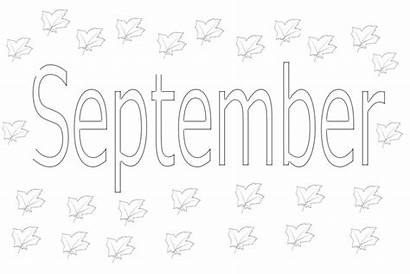 Coloring Pages Months September Month Printable October
