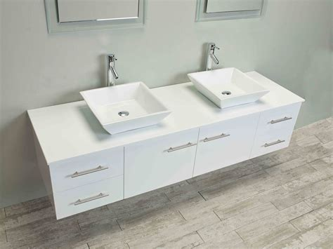 sink on top of counter totti wave 72 inch white modern double sink bathroom