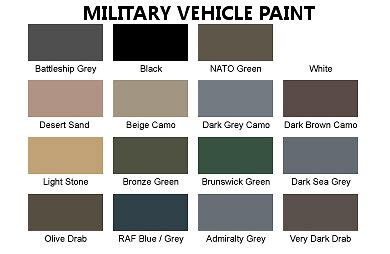 premium military vehicle nato camo paint all colours