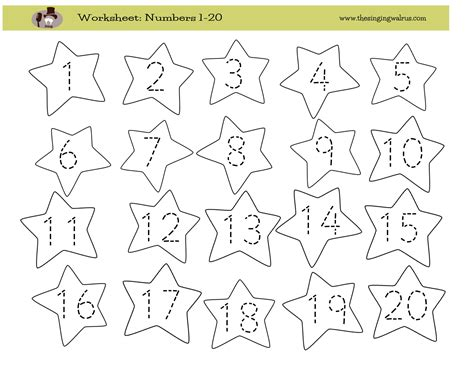kindergarten 11 20 number writing worksheets search