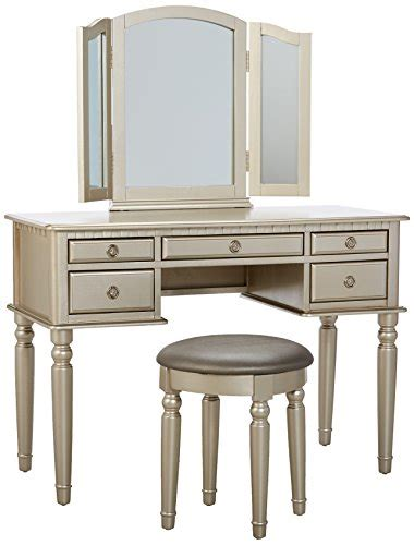 bobkona st croix collection vanity set with stool white bobkona f4079 st croix collection vanity set with stool
