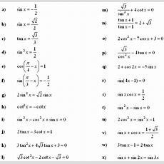 Trig Equations Worksheet Equations Alistairtheoptimist Free Worksheet For Kids
