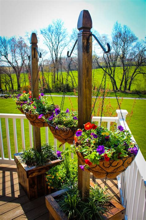 hanging basket column shanty  chic