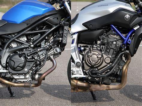 Suzuki Sv650 Vs Yamaha Mt07  La Technique Motostation