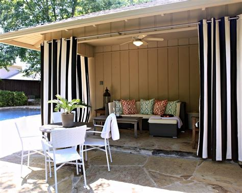 Outdoors Curtains : How To Hang Outdoor Curtains