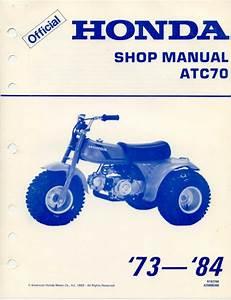 Honda Atc70 1982 Repair Service Manual User Guides