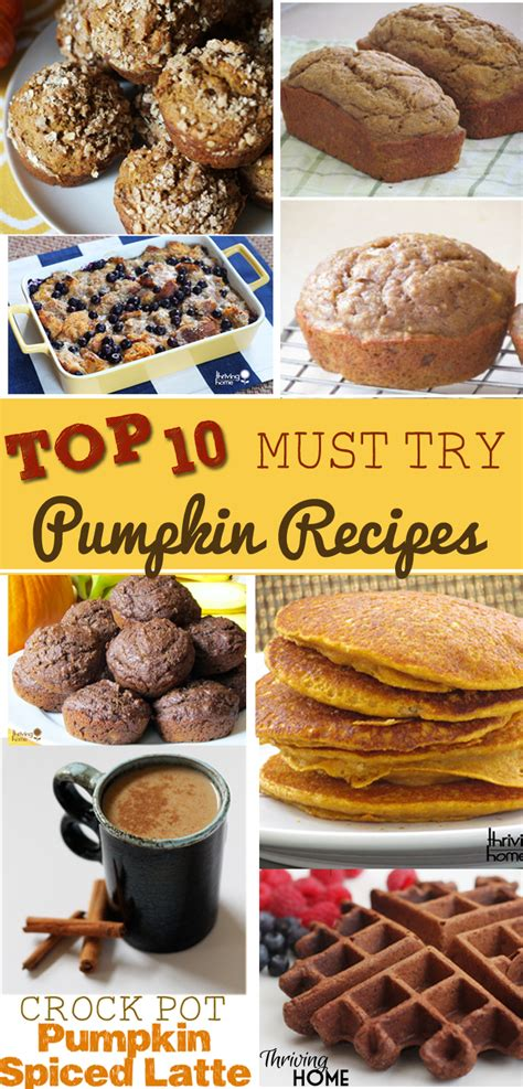 great new recipes to try top 10 must try pumpkin recipes on thriving home thriving home