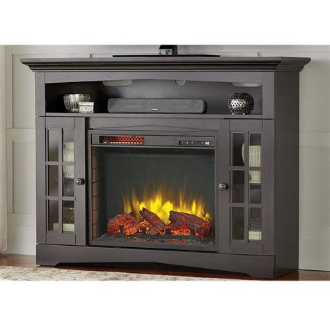 portable fireplace home depot home decorators collection avondale grove 48 in tv stand