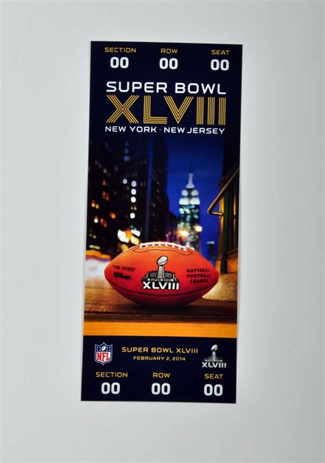 bowl ticket super xlviii replica tickets daily prices packages fans seats cheap dropping percentages modest luxe means major york coughlin
