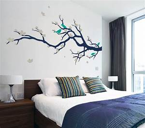 cherry blossom branch with birds contemporary wall With kitchen cabinets lowes with japanese cherry blossom wall art sticker