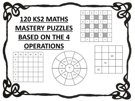 120 Ks2 Maths Mastery Puzzles Based On The 4 Operations