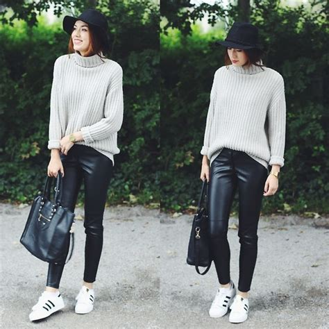 - Sweater + Leather