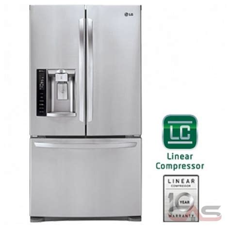 lg lfxst french door refrigerator  width  door ice dispenser energy star