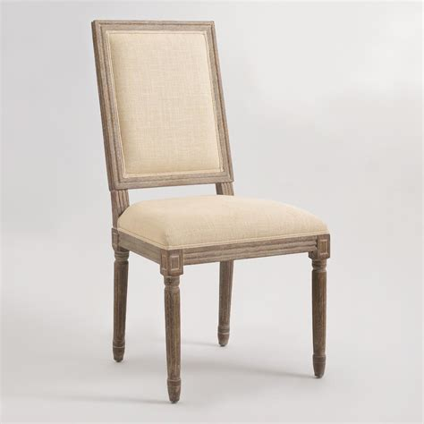 world dining room chairs natural linen square back paige dining chairs set of 2 world market