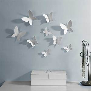 Papillon Décoration Murale : d co murale papillons blancs ~ Teatrodelosmanantiales.com Idées de Décoration