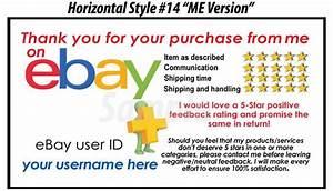50 ebay seller custom personalized 5 star reminder thank With ebay feedback templates