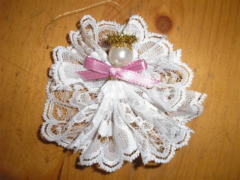 lace angel ornament craft class ideas pinterest