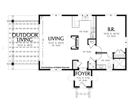 One Bedroom House Plans by Simple One Bedroom House Plans Home Plans Homepw02510