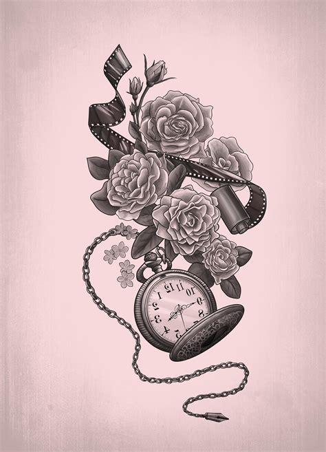 taschenuhr 31 coole designs und bedeutung tattoos zenideen