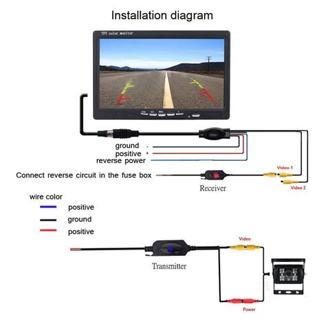 installation bureau 7 tft lcd monitor backup wiring diagram rear view