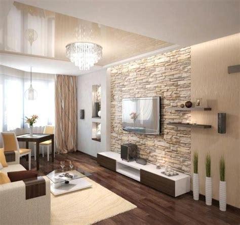 idee deco maison en pierre grand decoration salon mur de