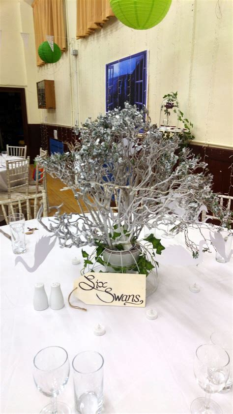 secondhand prop shop table decor 9x white branched wedding table decorations with lights and