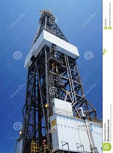 Derrick Of Offshore Jack Up Drilling Rig Stock Image ...