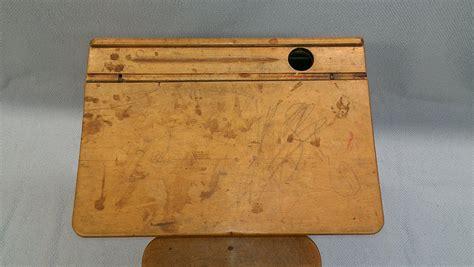 Vintage School Desk Top by Restored Vintage School Desk Woodbin