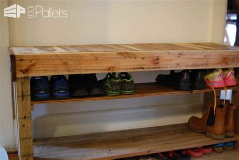 pallet shoe bench  pallets