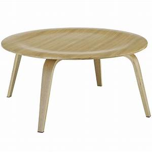 plywood modern wood grain panel round coffee table natural With modern natural wood coffee table