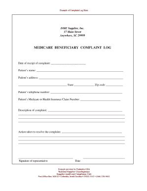 palmetto gba complaints fill  printable fillable