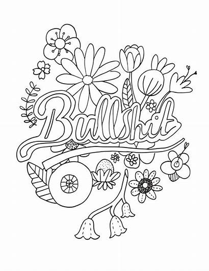 Coloring Pages Curse Word Swear Adult Words