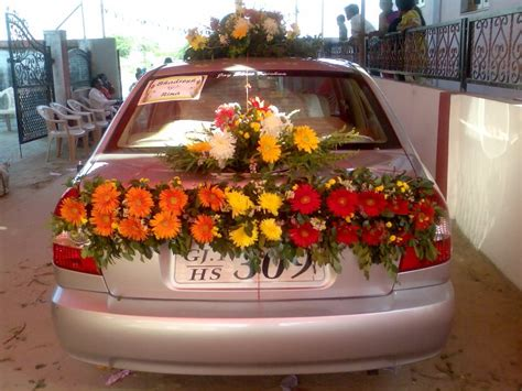 side flower decoration  car florist ahmedabad