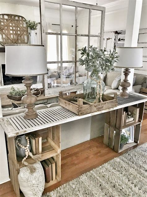 easy diy console table home farmhouse decor home