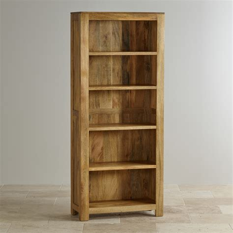 Mantis Light Tall Bookcase In Solid Mango  Oak Furniture Land