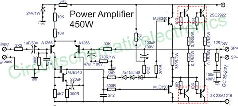 Transistor Audio Amplifier Circuit Diagram