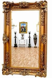 Miroir Baroque Doré : miroir baroque cadre en bois dor 156x95 cm miroirs baroque classic stores ~ Teatrodelosmanantiales.com Idées de Décoration