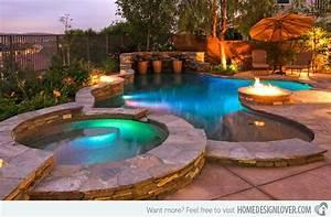 garten pool und feuerstelle zusammenstellen 15 ideen With feuerstelle garten mit hotel mit whirlpool auf balkon mallorca