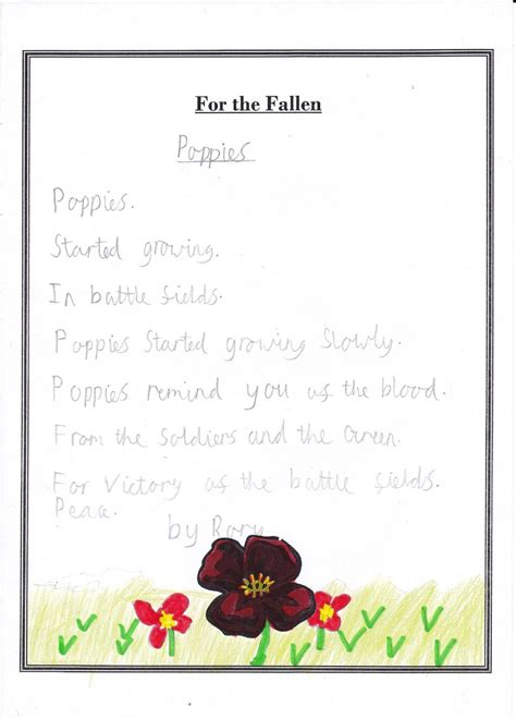 poppy poems for remembrance day denver primary school poems for remembrance day