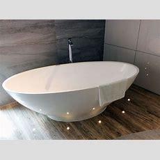 Freistehende Badewanne Barletta Aus Mineralguss Weiß